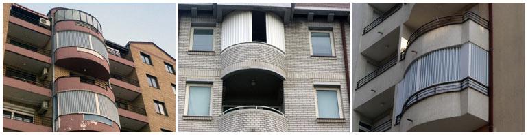 zatvaranje polukruznih balkona