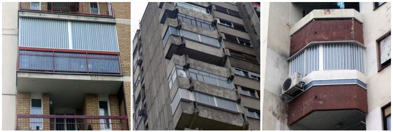 zatvaranje terase raznih oblika
